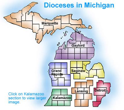 Worksheet. Diocesan Map  Diocese of Kalamazoo  Kalamazoo MI